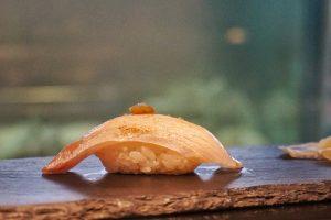 Seared King fish belly, Yuzu citrus pepeer.